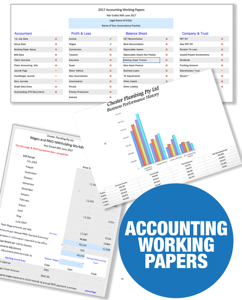 accounting working papers product